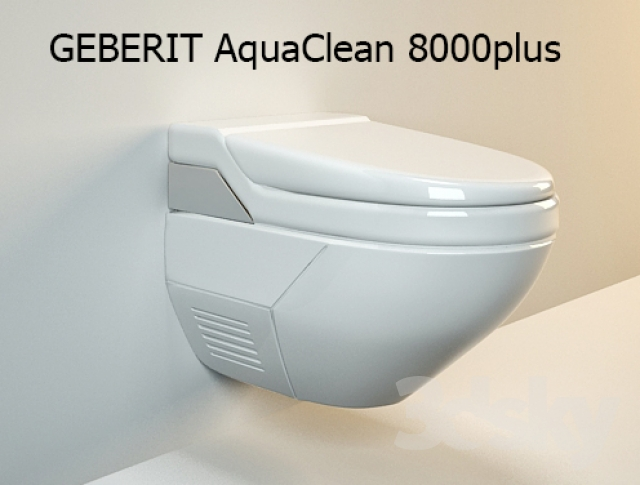 3d models toilet and bidet geberit aquaclean 8000plus