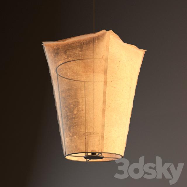 3d models: Ceiling light - Paper lantern