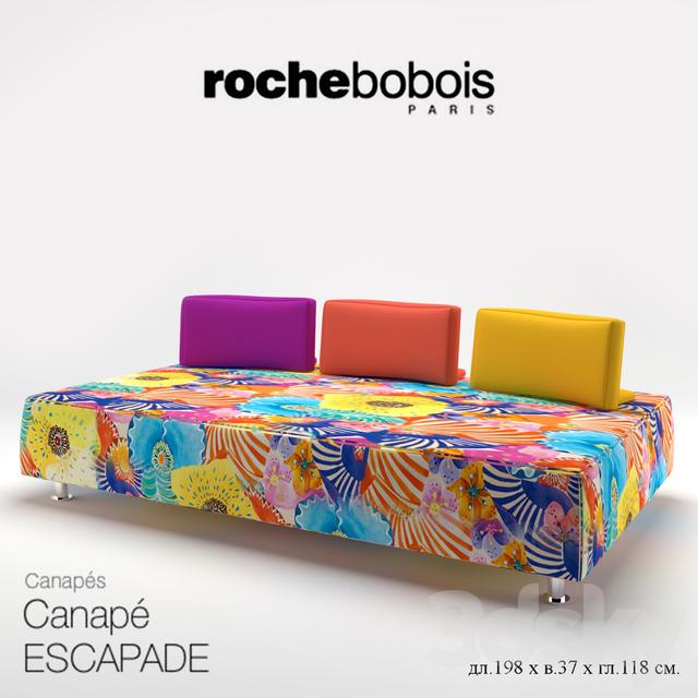 3d models sofa roche bobois escapade. Black Bedroom Furniture Sets. Home Design Ideas