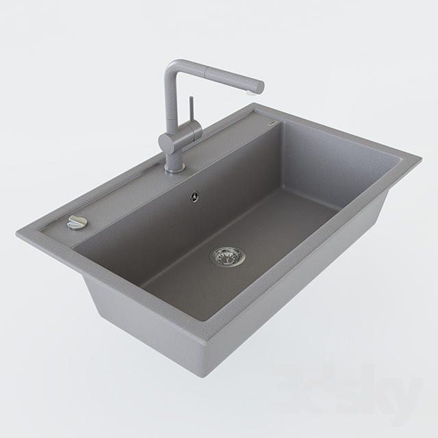 Blanco Linus 3d models sink sink blanco dalago 8 and mixer blanco linus s
