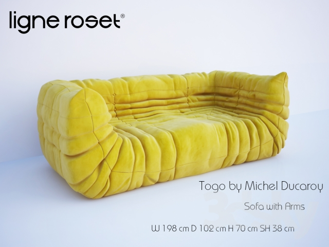 Togo Sofa With Arms By Michel Ducaroy. Ligne Roset.