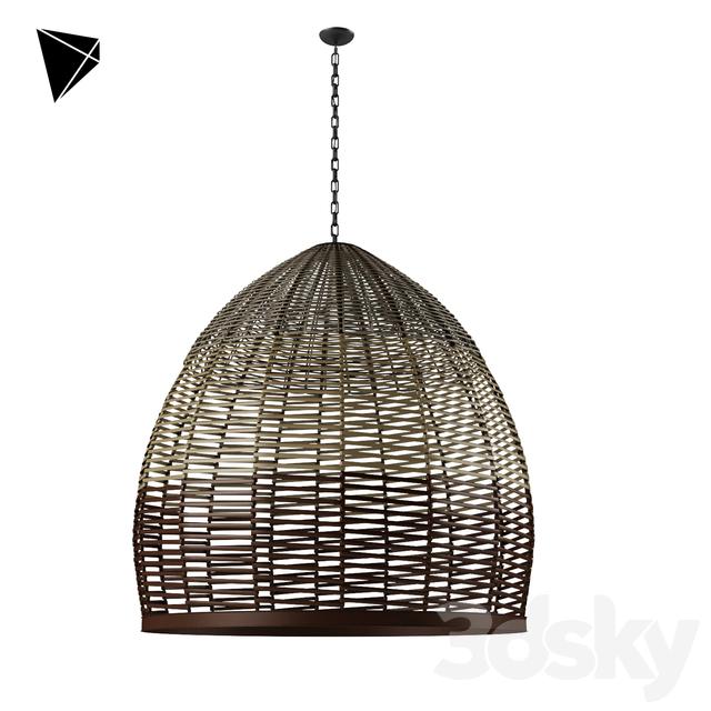 3d Models Ceiling Light Wicker Pendant Lamp