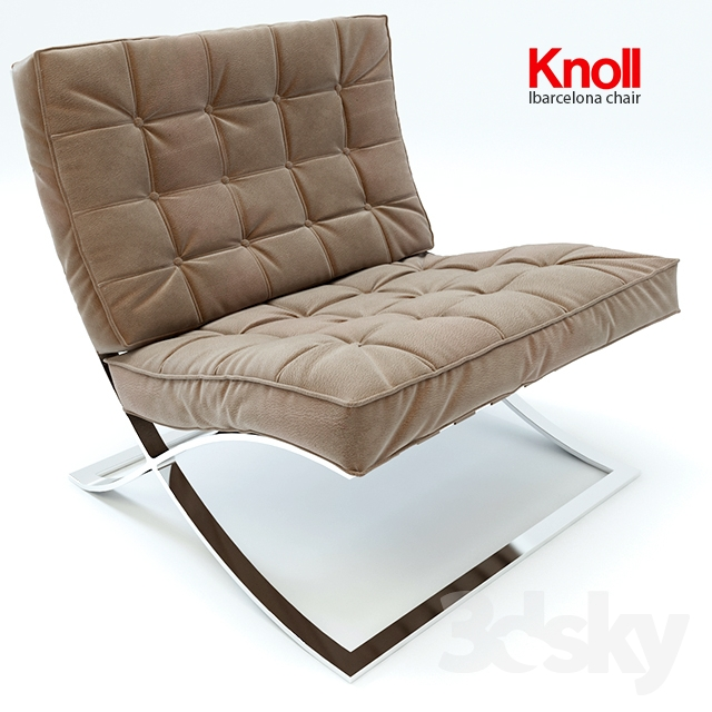 3d models arm chair barcelona chair knoll. Black Bedroom Furniture Sets. Home Design Ideas