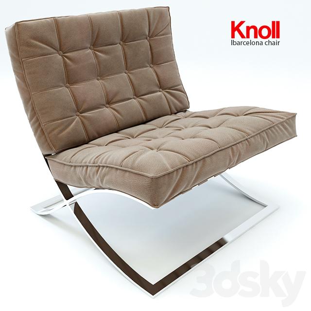 3d models arm chair barcelona chair knoll
