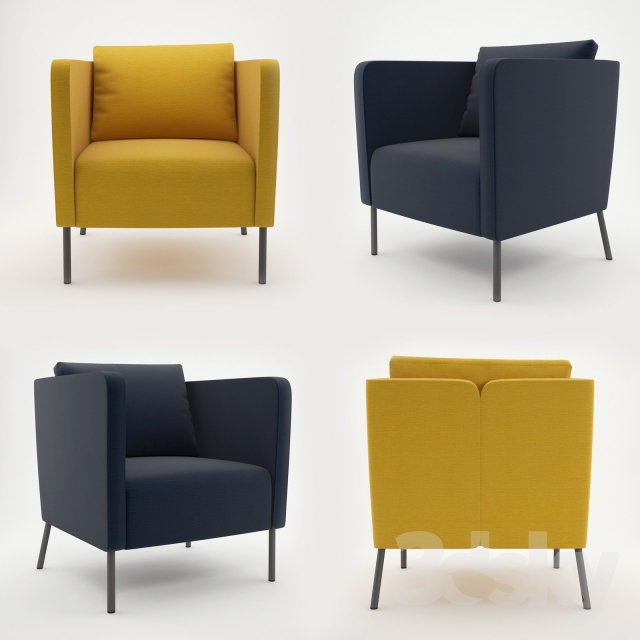 3d Models Arm Chair Ikea Ekero Eker