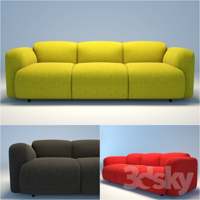 3d models sofa normann copenhagen swell sofa. Black Bedroom Furniture Sets. Home Design Ideas