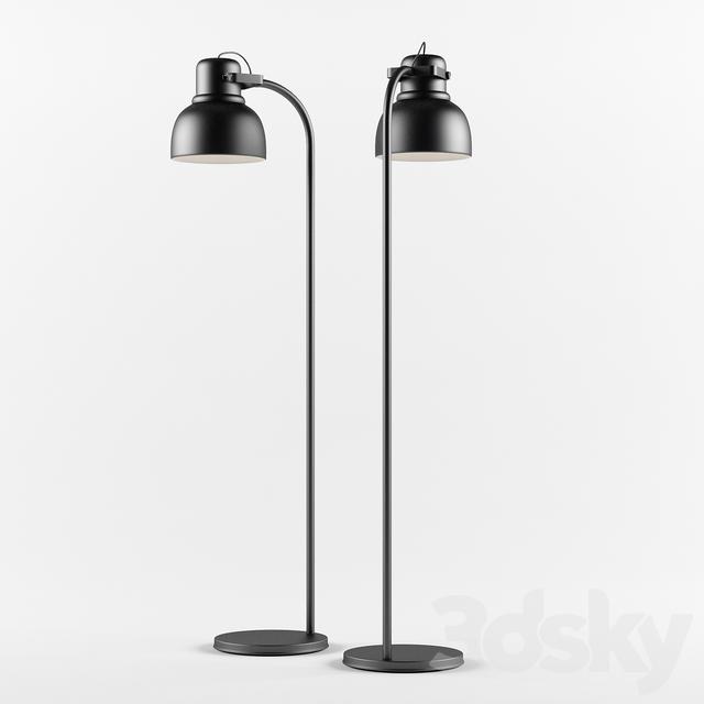 3d models floor lamp floor lamp ikea hektar. Black Bedroom Furniture Sets. Home Design Ideas