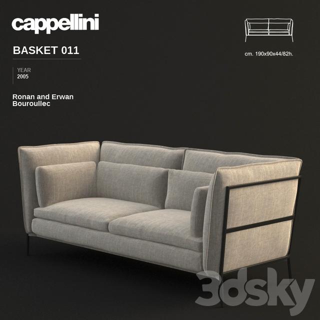 3d models  Sofa - Cappellini Basket 011 Sofa - Ronan and Erwan ... f303a7a85dfb