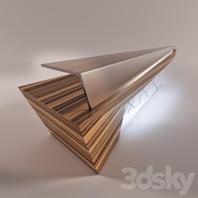 3d Models Office Furniture Reception Desk
