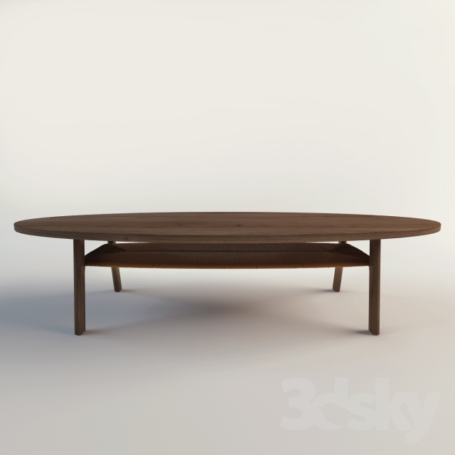 3d models: table - coffee table ikea / stockholm