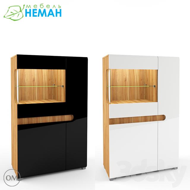 3d models wardrobe display cabinets wall leonardo for Wall showcase models