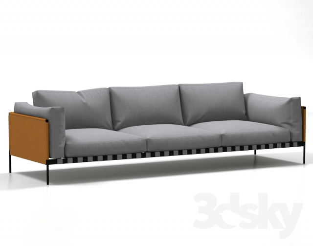 3d models sofa zanotta parco. Black Bedroom Furniture Sets. Home Design Ideas
