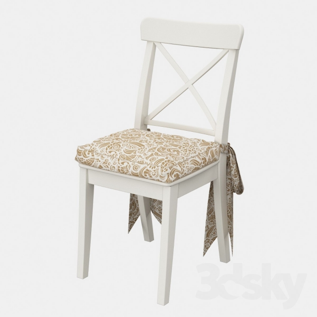 Ordinaire Ingolf Chair (Ingolf IKEA) With A Pillow And Bows
