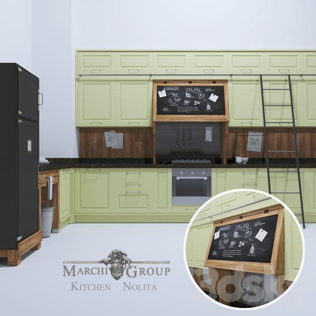 3d models kitchen marchi group cucine nolita - Cucine marchi group ...