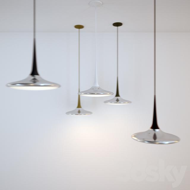 3d models: Ceiling light - Tobias Grau - Falling Leaf