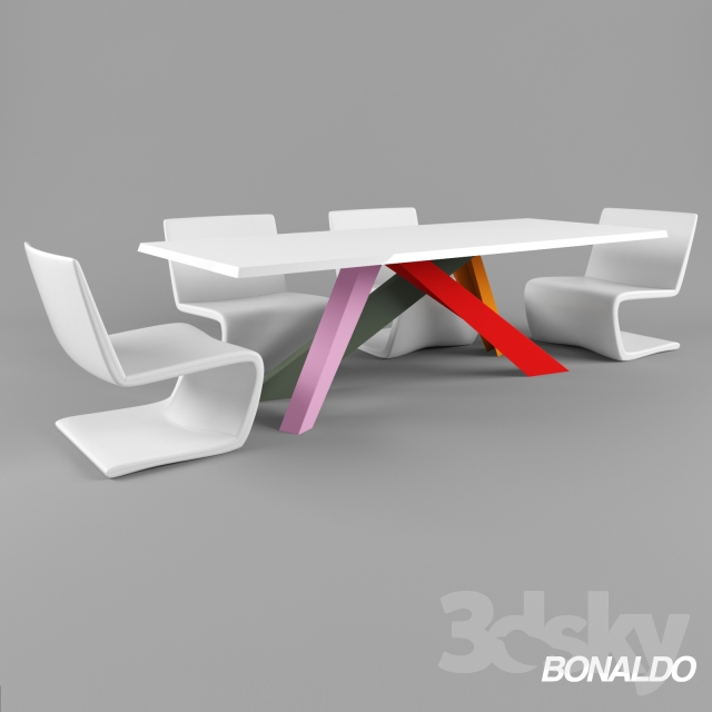 3d models: Table + Chair - Table Bonaldo Big Table, chairs Venere ...