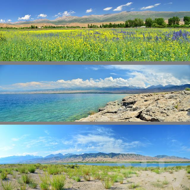 the southern shore of Lake. Issyk-Kul