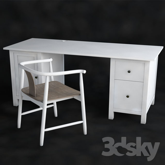 Ikea Desk HEMNES Chair TRENDIG