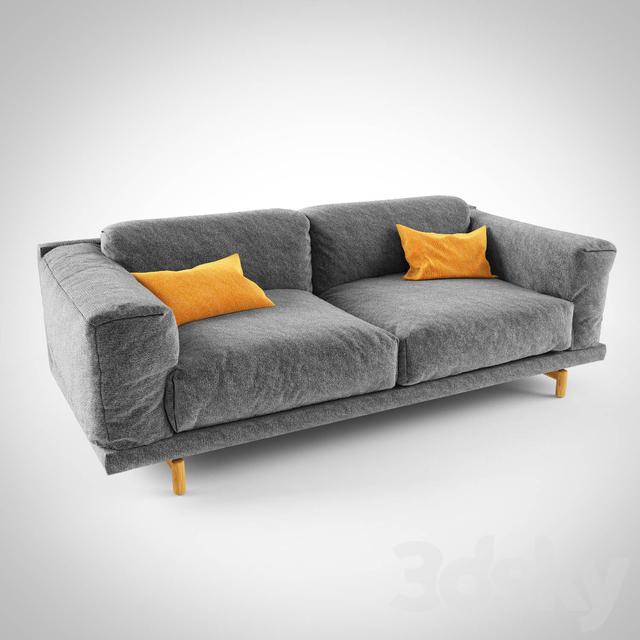 3d models sofa muuto rest sofa. Black Bedroom Furniture Sets. Home Design Ideas