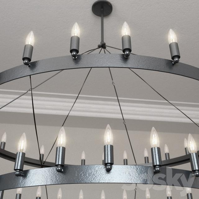3d Models Ceiling Light Restoration Hardware Camino Two Tier Chandelier Large