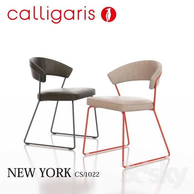 3d models: Chair - Calligaris New York Metal Chair CS1022