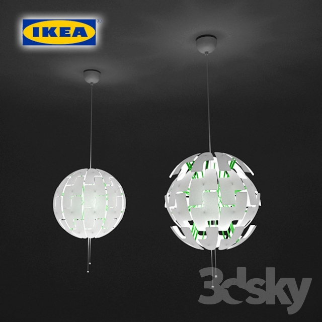 3d models ceiling light pendant lamp ikea ps 2014. Black Bedroom Furniture Sets. Home Design Ideas