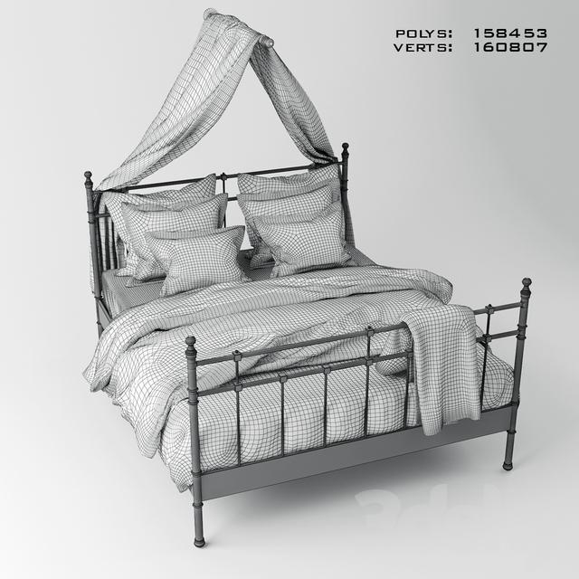 3d Models Bed Ikea Svelvik Bed Canopy