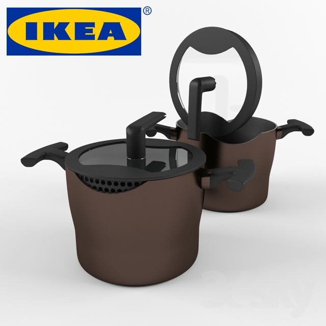 3d models other kitchen accessories casserole ikea forbluffad. Black Bedroom Furniture Sets. Home Design Ideas