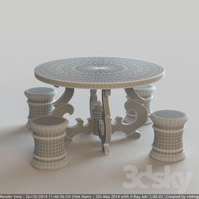 3d models Table French Country Round Dining Table : 130841544e45f5c3b2c from 3dsky.org size 640 x 640 jpeg 212kB
