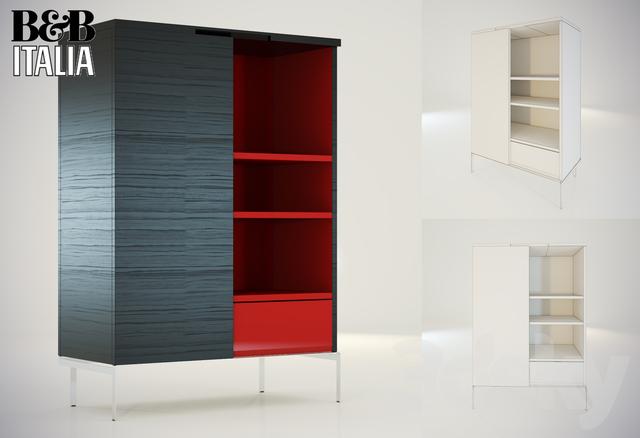 3d models wardrobe display cabinets cabinet mida b for B b italia spa
