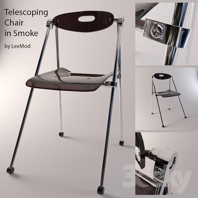 Good 3d Models: Chair   Telescoping Chair In Smoke