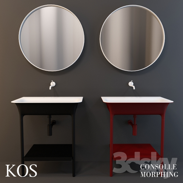 3d Models Wash Basin Sink Kos Morphing Consolle
