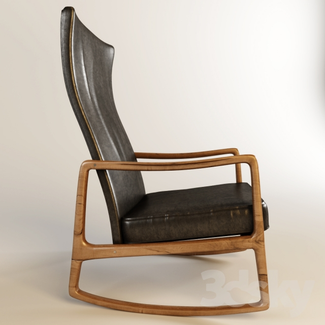 3d Models: Arm Chair   Danish Rocking Chair By Ole Wanscher For France And  Son