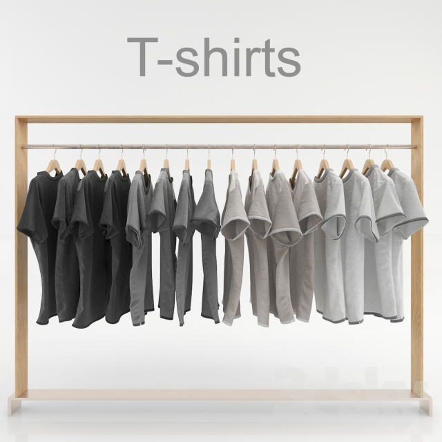 Set of clothes on a hanger
