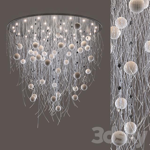 Fiber Optic Chandelier With Beads