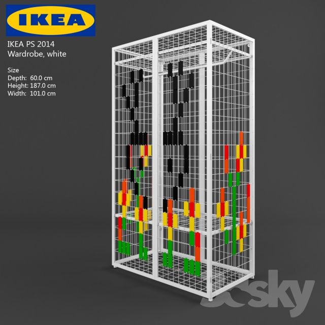 3d models wardrobe display cabinets ikea ps. Black Bedroom Furniture Sets. Home Design Ideas