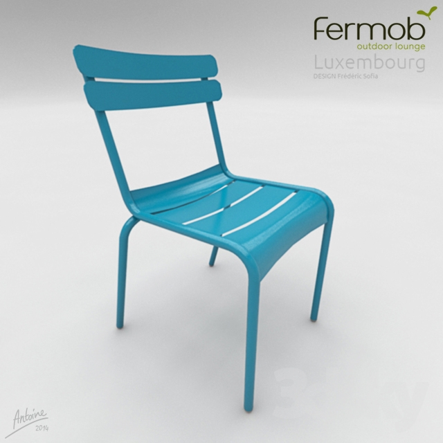 3d models chair fermob chaise luxembourg. Black Bedroom Furniture Sets. Home Design Ideas