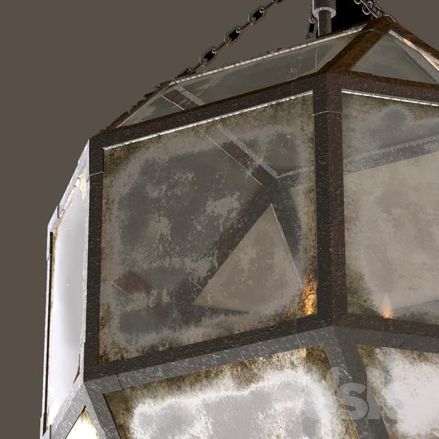 3d Models Ceiling Light Rh Parisian Octagonal Pendant 3 Size