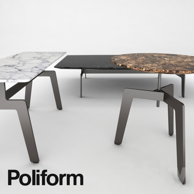 Poliform Tribeca coffee table - 3d Models: Table - Poliform Tribeca Coffee Table