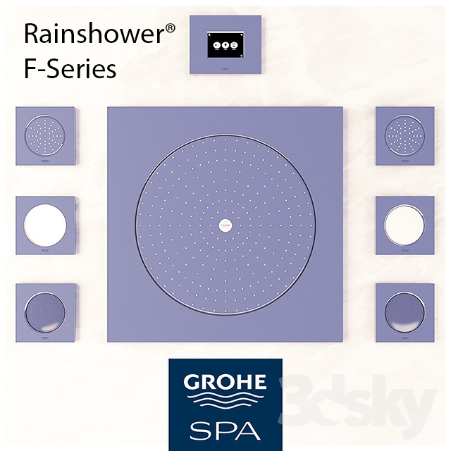 3d models faucet grohe rainshower f series. Black Bedroom Furniture Sets. Home Design Ideas