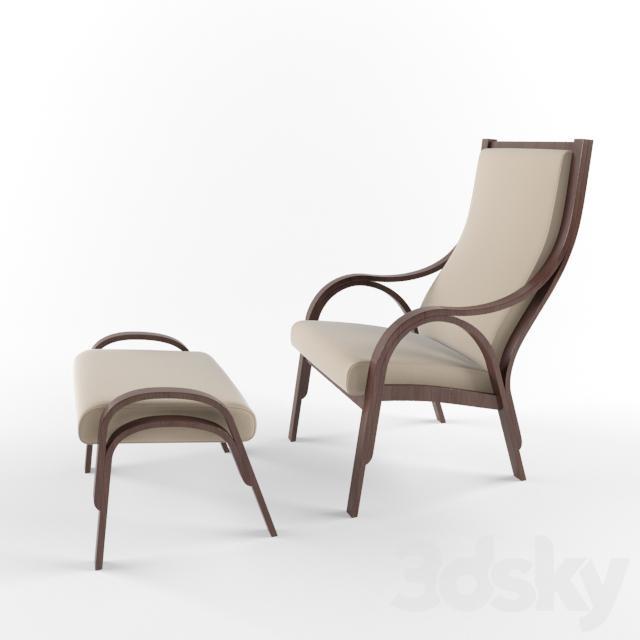 Poltrona Frau Cavour.3d Models Arm Chair Poltrona Frau Cavour