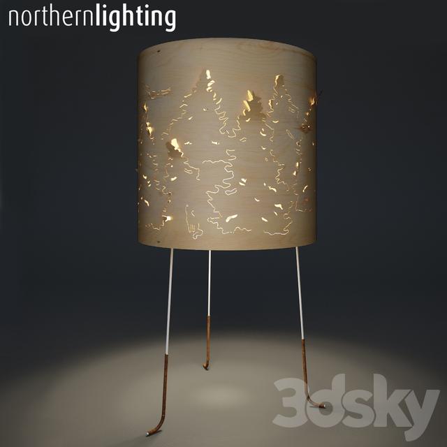 designed d shade lamp with artist weller forest htm
