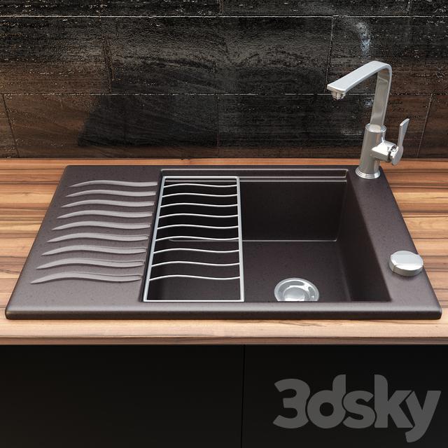 3d models sink blanco elon xl 6 s. Black Bedroom Furniture Sets. Home Design Ideas
