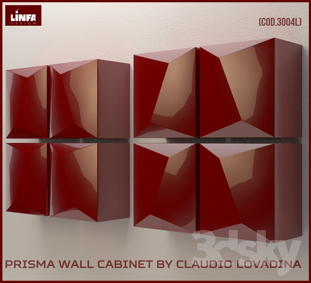 Prisma Wall Cabinet by Claudio Lovadina for Linfa Design