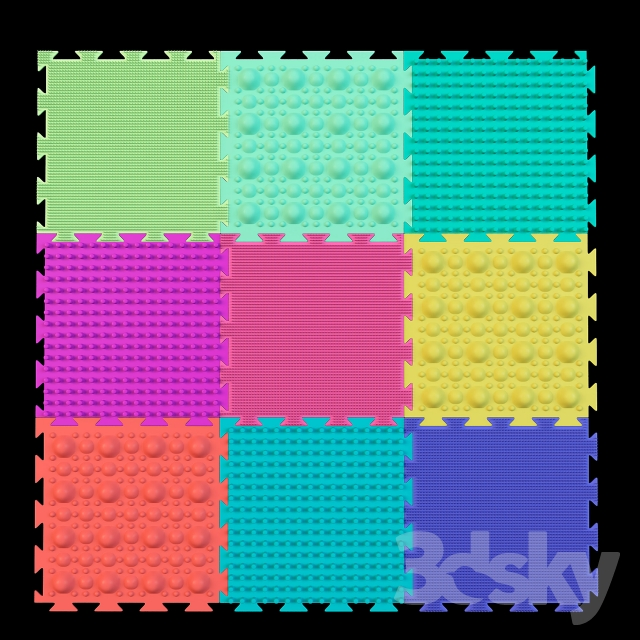 3d models: Miscellaneous - Orthopedic mats for children