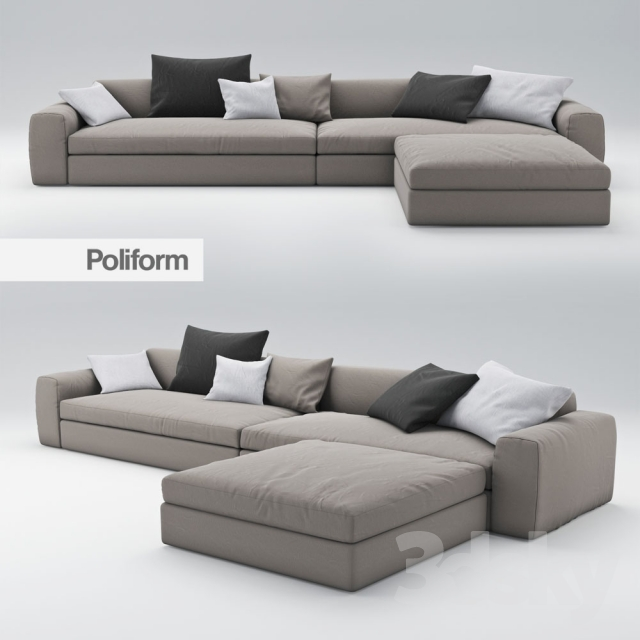 sofa dune von poliform. Black Bedroom Furniture Sets. Home Design Ideas