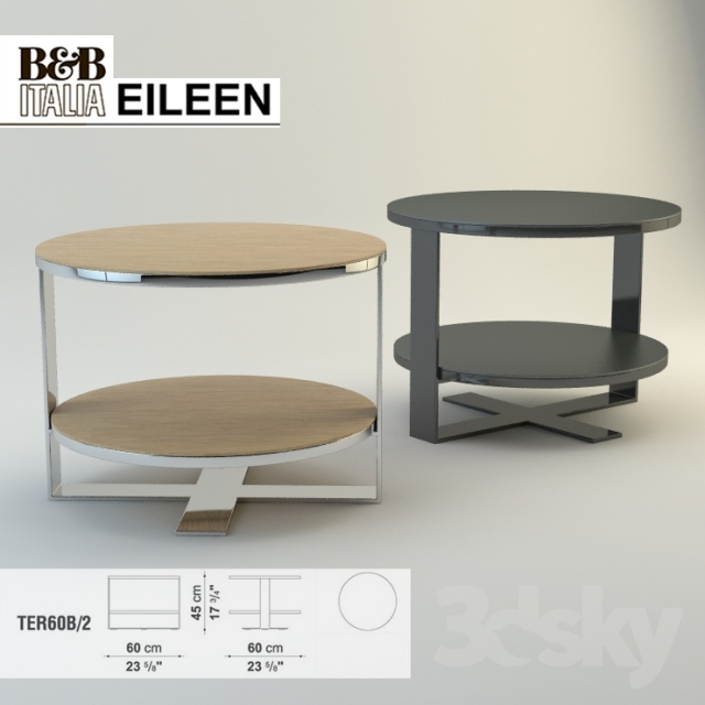 3d models table b b italia eileen ter60b 2. Black Bedroom Furniture Sets. Home Design Ideas