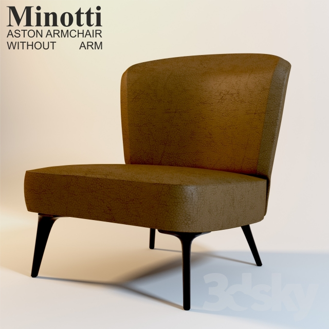 3d models: Arm chair - Minotti ASTON ARMCHAIR WITHOUT ARM