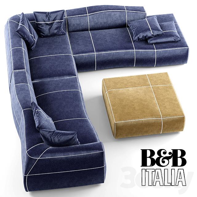 3d models sofa modular sofa b b bend sofa for B b sofa