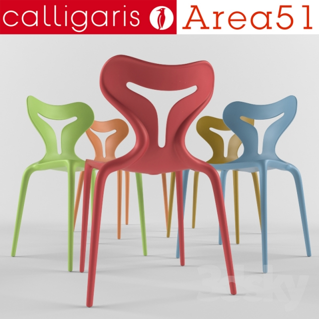 3d models: Chair - calligaris area 51 chair